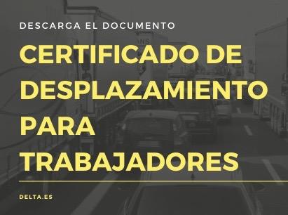 Certificados de desplazamiento